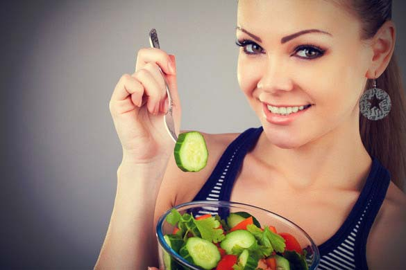 Banyak minum air putih dan makan makanan sehat
