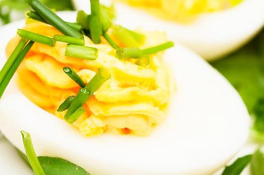 Deviled egg via www.livestrong.com